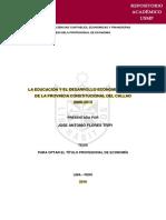 Tesis - la educacion y el desarrollo economico social de la provincia constitucionaldel callo 2000-2013 revisado
