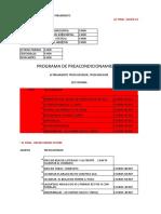 PROGRAMA DE PRE ACONDICIONAMIENTO  RUTINA DE EJERCICIOS LISTA PARA HACER