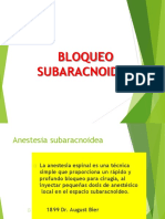 BLOQUEO SUBARACNOIDEO