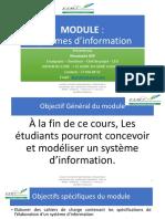 MODULE SYSTEME DINFORMATION ESMT FEVRIER 2020 M MOUSTAPHA DER