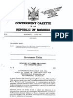 Government Gazette for Tariff of Consulting Fees