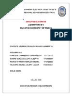 DIVISOR DE TENSION Y DE CORRIENTE