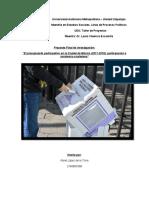 Proyecto Final de investigación Presupuesto Participativo - Taller de Proyectos