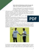 Entrenamiento de salto vertical del futbolista y modelo de juego del entrenador