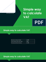 Simple Way to Calculate VAT