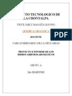 PROYECTO E INFORME DE LOS HIDROCARBUROS AROMÁTICOS