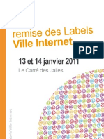 12e remise des Labels Ville Internet - Programme complet