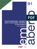 Sustentabilidade desafios para a educação científica e tecnológica