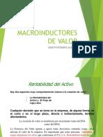 Clase universitaria de  Macroinductores de valor