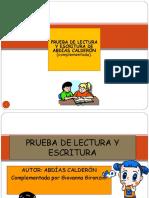PATOLOGÍA_LECTURA_CLASE N°6_PRUEBA DE LECTURA Y ESCRITURA