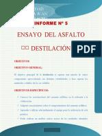 informe 5 DESTILACIÓN