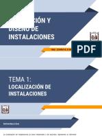 1.1 Localización de una sola instalación