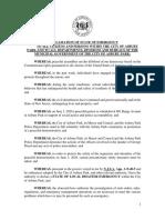 Disaster Declaration/Curfew