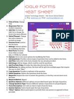 Google Forms - Cheat Sheet
