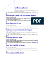 Direct Links to Adobe PDF Tutorials