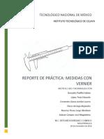 Reporte de practica - Vernier