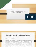 ESTADÍSTICA II - ESTIMADORES 2 DE 2