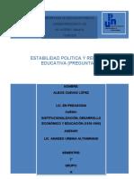 -ESTABILIDAD POLITICA Y REFORMA EDUCATIVA