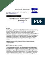 Princípios de Elaboração de Escalas Psicológicas - Pasquali Revista de Psiquiatria Clínica