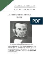 LOS GOBERNADORES DE MICHOACÁN