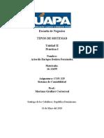 Unidad II. Práctica I. Sistema Contable