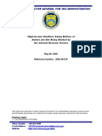Treasury Dept. Ig Report-Public Doc
