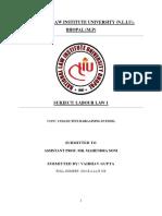 Labour Law 1 Project Final 2