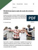 Dinâmicas para Sala de Aula do Ensino Médio - Escola Educação.pdf