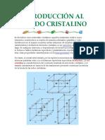 INTRODUCCIÓN AL ESTADO CRISTALINO
