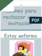 negar invitaciones