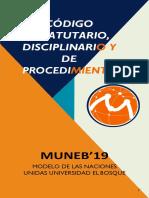 HANDBOOK - CÓDIGO ESTATUTARIO, DICIPLINARIO Y DE PROCEDIMIENTO MUNEB 19  (2).pdf