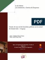 DISEÑO DE UNA RED DE BICICLETAS PÚBLICAS EN LA CIUDAD DE MONTEVIDEO - URUGUAY