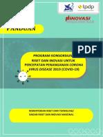 PANDUAN PROGRAM KONSORSIUM RISET DAN INOVASI COVID-19 TAHUN 2020