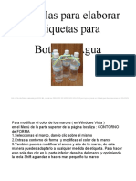 6 PLANTILLAS  Etiqueta BOTES DE AGUA  H