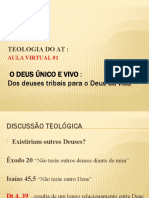AULA VIRTUAL 01 - o Deus Único e Vivo -