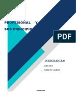 ÉTICA PROFESIONAL Y SUS PRINCIPIOS