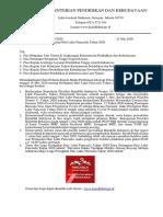 Surat Pedoman Harlah Pancasila 2020