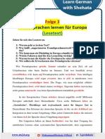 003 - B2 - Lesen - Fremdsprachen Lernen Für Europa