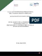 Plan de Continuidad Pedagógica del Colegio Franco Peruano para la prestación del servicio educativo a distancia.docx