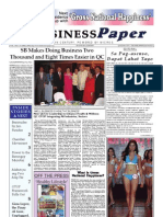 theBUSINESS Paper Inaugural Edition 18 April 2008 Manila , The Philippines
