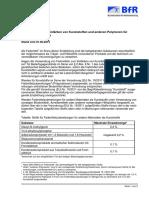Recomendación BfR IX (colorantes Alemania)