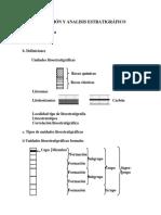 clasificación y análisis estratigráfico