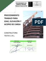 PTS 017 - IZAJE, ELEVACIÓN Y ACOPIO DE CARGA