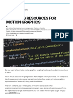 Scripting Resources for Motion Graphics