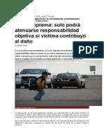 Accidente de Transito Indemnizacion CASACION Andahuaylas 120000.00