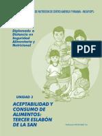 Diplomado SAN - Unidad 3  Aceptabilidad y Consumo de Alimentos  Tercer Eslabon de la SAN