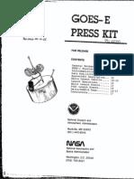 GOES- E Press Kit
