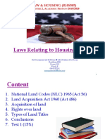 Laws relating to Housing (Part 1) - Dr. Nora 150420