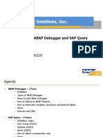 ABAP Debugger and SAP Query