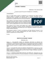 Declaracion Jurada y Protocolo Para Camioneros en Mendoza